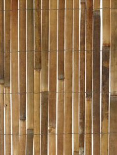 Bamboo slat fencing screening. Might be an interesting wall treatment for a bathroom as well?