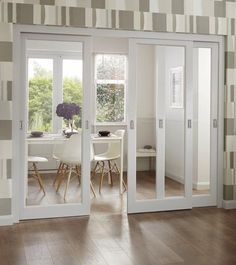 In between sitting room and kitchen Pattern 10 Glazed | Internal Softwood Doors | Doors & Joinery | Howdens Joinery
