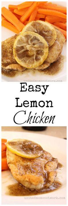 Easy Lemon Chicken Recipe. So Simple And So Delicious!