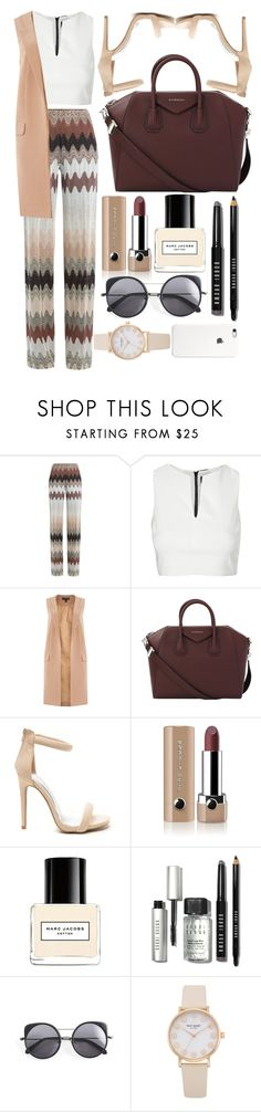 """Fashion 222"" by jnrking ❤ liked on Polyvore featuring Missoni, Topshop, Lipsy, Givenchy, Marc Jacobs, Bobbi Brown Cosmetics and Wood Wood"