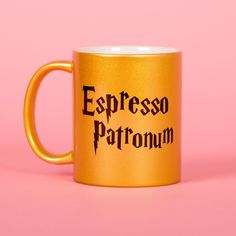 This gold espresso patronum mug is so perfect for any Harry Potter lover on your list.