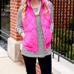 Jcrew Hot Pink Excursion Vest Blogger fave and good colors never go on sale. Like new condition perfect for layering or alone. J. Crew Jackets & Coats Vests