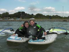 Kids love our teaching location at Poole Harbour.  Safe, shallow water make for the perfect spot for kids to learn the basics of windsurfing. #poolewindsurfing #windsurfinglessons #pooleharbour