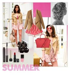 """PINK Summer"" by katrice-s ❤ liked on Polyvore featuring Red Circle, MICHAEL Michael Kors, CC SKYE, Laura Mercier and LVX"