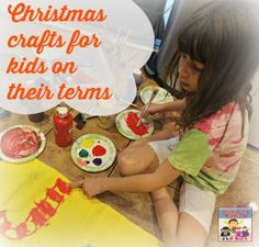 Creating Christmas crafts