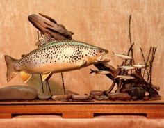 Wood Trout Sculptures Information