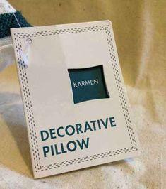 decorative pillow hang tags