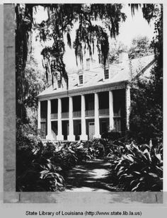 Shadows-on-the-Teche Plantation home in New Iberia Louisiana circa 1970s :: State Library of Louisiana Historic Photograph Collection