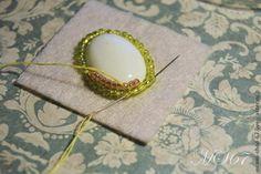 Вышивка бисером. Урок №2. Как обшить кабошон бисером, гобеленовое плетение. - Ярмарка Мастеров - ручная работа, handmade