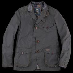 UNIONMADE - Barbour - Commander Jacket in Olive Waxed Canvas. Men's Fall Winter Fashion.