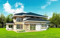 Dom z Widokiem Colonial, Home Fashion, Design Projects, House Plans, Villa, House Design, Mansions, House Styles, Interior