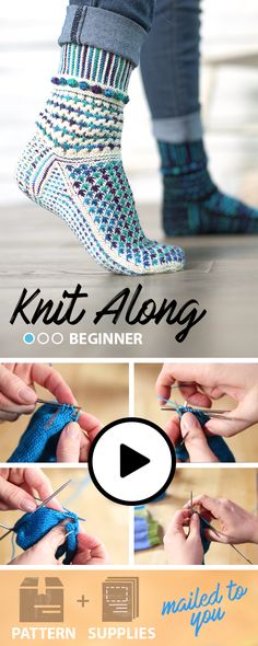 2016 #Knit-Along Socks. Watch our FREE online class and follow along with our instructor. We'll walk you through all the skills and techniques you need to make the perfect pair of knitted socks. To make your life easier, we've put together a kit with the yarn and pattern. All you need to bring is the creativity!