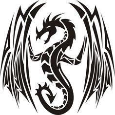 tribal dragon..