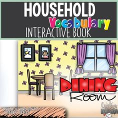 Household Vocabulary Interactive Books Dining Room