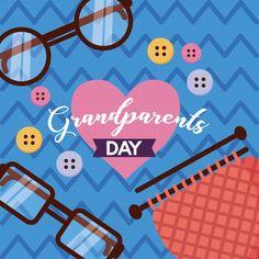 Happy Grandparents Day, Design Plano, Flat Design, Vector Free, People, Vectors, Pictures, People Illustration, Folk