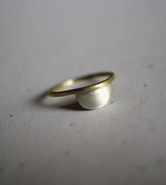 Silver & Brass Half Circle Ring by Paula Elaine Barnett on Scoutmob Shoppe