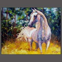 HORSE ART  Watercolor.  Pleasant use of color.