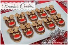 Christmas Reindeer Cookies   Smart Party Planning