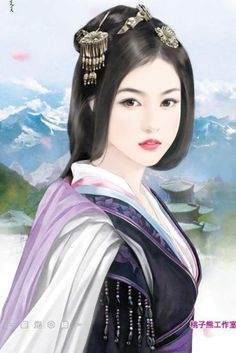 Chinese art Chinese Drawings, Art Chinois, Asian History, China Art, Creative Pictures, Human Art, Chinese Painting, Fantasy Girl, Woman Painting