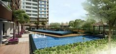 One Castilla Place:- Modern Minimalist themed high-rise enclave in Quezon City that offers intimate and tranquil environment. Manila, Condos For Sale, Property For Sale, Outdoor Pool, Outdoor Spaces, Quezon City, Staycation, Condominium, Gazebo