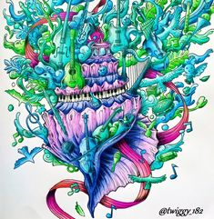 Imagimorphia by: @kerbyrosanes  FC A. Dürer +Derwent Watercolour + FC Polychromos #imagimorphia  #animorphia #animorphiacoloringbook #imagimorphiacolouringbook #imagimorphiacoloringbook #kerbyrosanes #kerbyrosanesfan #adultcoloringbook #coloringbook #coloringforadults #coloringforgrownups #polychromos #albrechtdurer #fabercastell #derwentwatercolour #kolorowaniedladorosłych #kochamkolorować #kolorowamafia #zifflin #zifflinscoloringbook