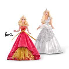 Hallmark Ornament 2015 Celebration Barbie Ornament Set - 2 Ornaments for sale online Christmas Barbie, Christmas Fun, Christmas Ornaments, Vintage Christmas, Barbie Sets, Barbie Dolls, Christopher Radko Ornaments, Hallmark Holidays, Ornament Hooks