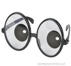 95f3f26e91f These fun novelty glasses feature catoon style eyes in the lenses. Great  for fancy dress