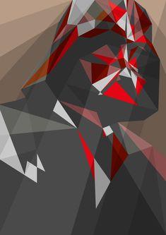 As ilustrações geométricas de Liam Brazier   Comunicadores  Ridiculously awesome geometric comic book / nerd prints <3