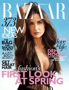 Demi Moore Dishes on Bad Body Image in Harper's Bazaar