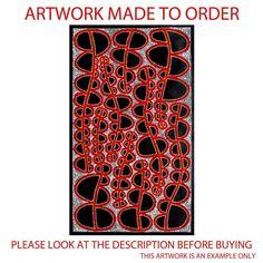 Aboriginal Art Painting by Sally Clark MADE TO ORDER 90cm x 130cm in Art, Aboriginal, Paintings   eBay
