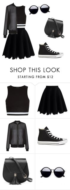 """""""Casual"""" by rhianna-alexandre on Polyvore featuring New Look, Chicwish, Converse and Yoki"""