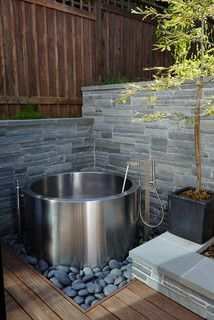 Japanese Soaking Tub - contemporary - landscape - san francisco - by Terra Ferma Landscapes