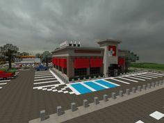 [Minecraft] Restaurant by Yazur on deviantART