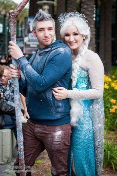 Beautiful Halloween Elsa costume for girls 2014 - snow, lace sleeve #Halloween