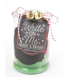 Chalk Apothecary Candle Jar | White/Red/Green Layered 15oz