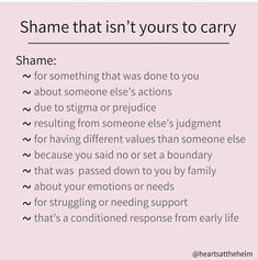 Healing Insights for Toxic Relationships — Don't carry shame that has been piled on you Mental And Emotional Health, Emotional Healing, Mental Health Awareness, Positive Mental Health, Trauma, Ptsd, Toxic Relationships, Healthy Relationships, Relationship Tips