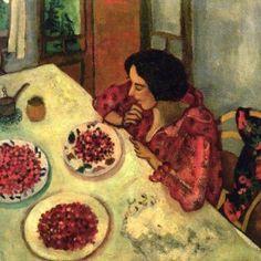 fresas bella e ida en la tabla, chagall