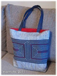 Новая сумка, новый мешочек - ВЫШИВКА САШИКО - традиции, теория и практика