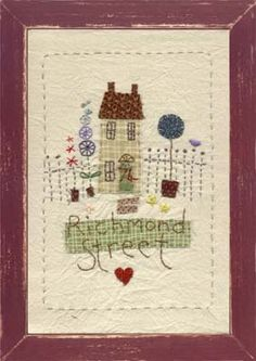 Townhouse Embroidered Picture