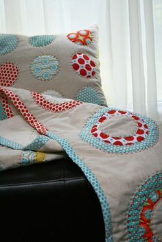 Circles and Dots Handmade Quilt