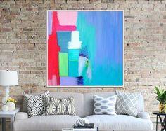 Arte pintura pintura abstracta de la lona arte moderno por Artzaro