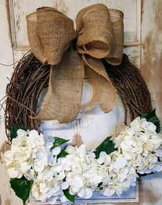 Front door Wreath, READY TO SHIP Only 1 available, Front door wreath, hydrangea, Wedding Wreath,  Wreath Great All Year Round, Door Wreath by FarmHouseFloraLs on Etsy