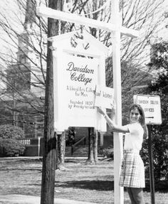 A liberal arts college for men AND WOMEN: Sandra May '73 declares Davidson College co-ed