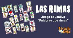 Palabras que riman ▷ Las rimas en la educación Games, Educational Games, Rhyming Words, Children Rhymes, Gaming, Plays, Game, Toys