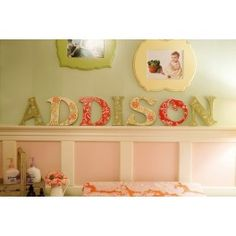 Addison Collection Hand Painted Letters - Addison's Wonderland