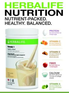 Herbalife F1 shake. Easy, nutritious way to lose weight and feel better. #getontheherbs
