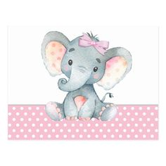 Shop Girl Baby Elephant Baby Shower Paper Plates created by The_Baby_Boutique. Baby Girl Elephant, Elephant Baby Showers, Baby Shower Centerpieces, Baby Shower Decorations, Baby Shower Parties, Baby Shower Themes, Shower Ideas, Imprimibles Baby Shower, Baby Elefant