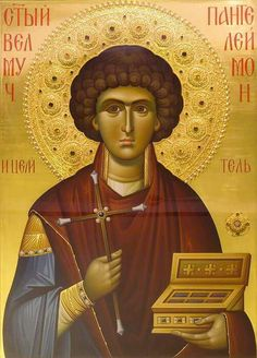 I wish I had the courage and zeal to tell you about this saint who rescued me from suffering and uncertainty. Byzantine Icons, Byzantine Art, Religious Images, Religious Icons, Greek Icons, Russian Orthodox, Orthodox Christianity, Catholic Saints, Orthodox Icons