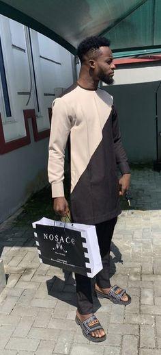 Nosace Nigerian Men, Sherwani, Kurta Designs, African Fashion, Menswear, Mens Fashion, Indian, Bag, How To Wear