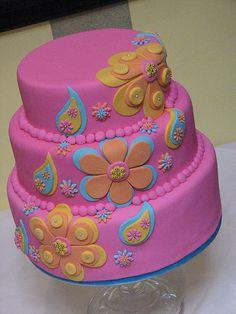 Whimsical Wedding Cakes added 123 new photos to the album: Wedding Cakes. Cupcakes, Cupcake Cakes, Bollywood Cake, Bollywood Theme, Teenage Girl Cake, Henna Cake, Whimsical Wedding Cakes, Professional Cake Decorating, Fondant